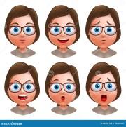 set of beautiful female avatars
