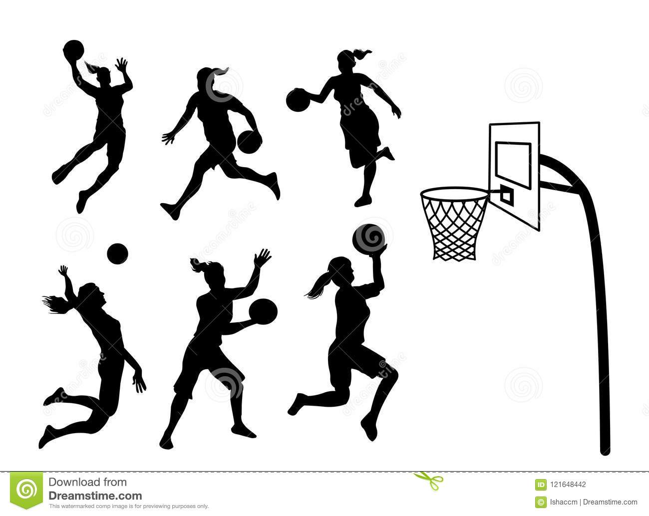 Basketball Player Silhouette Stock Illustrations 3 156 Basketball Player Silhouette Stock