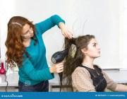 woman in beauty salon stock