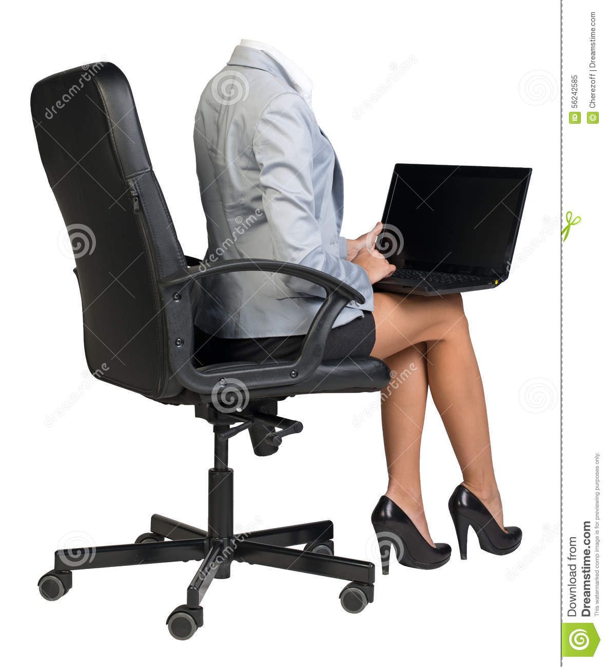 Keyboard Chair Woman Body Sitting In Chair Stock Image Image Of Keyboard