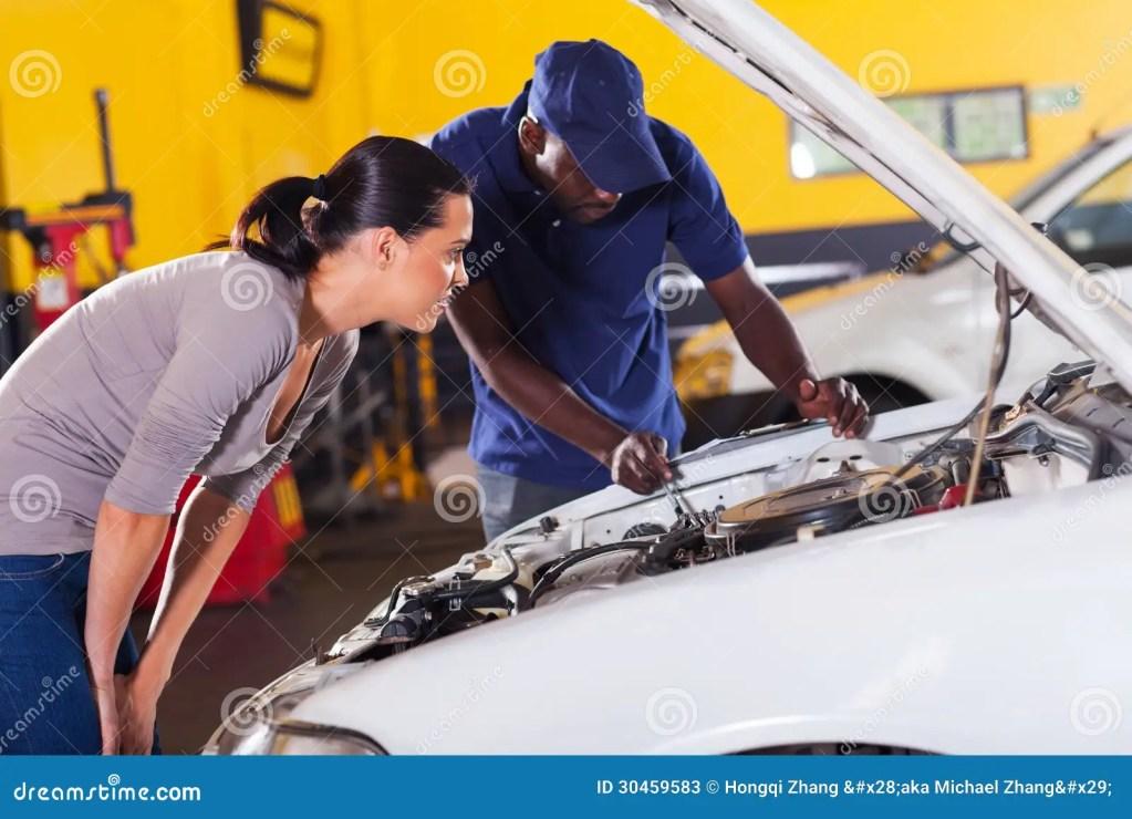Woman Car Repair Stock Image Image Of Mechanic Blue 30459583