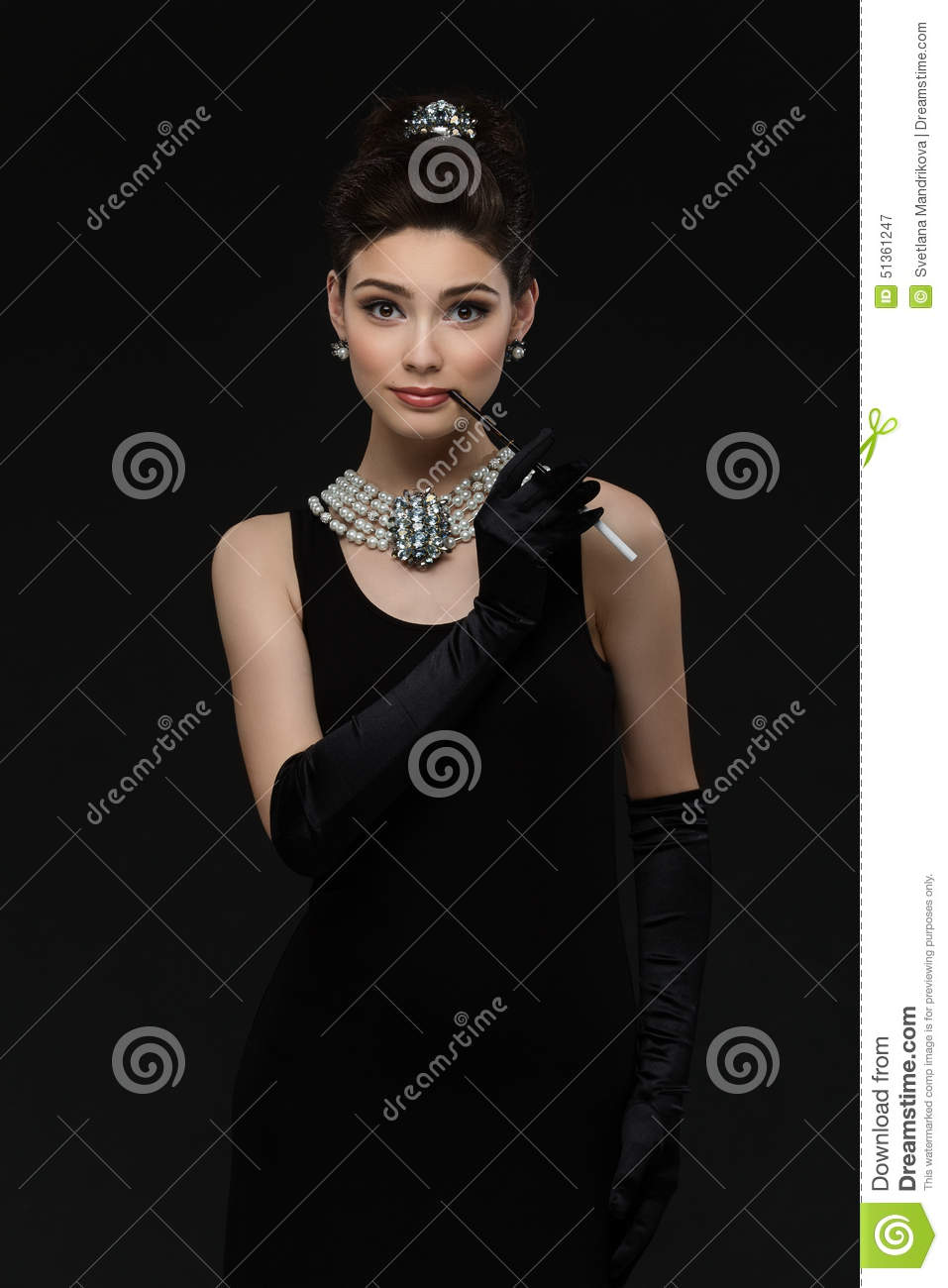 Woman With Cigarette Stock Photo Image 51361247