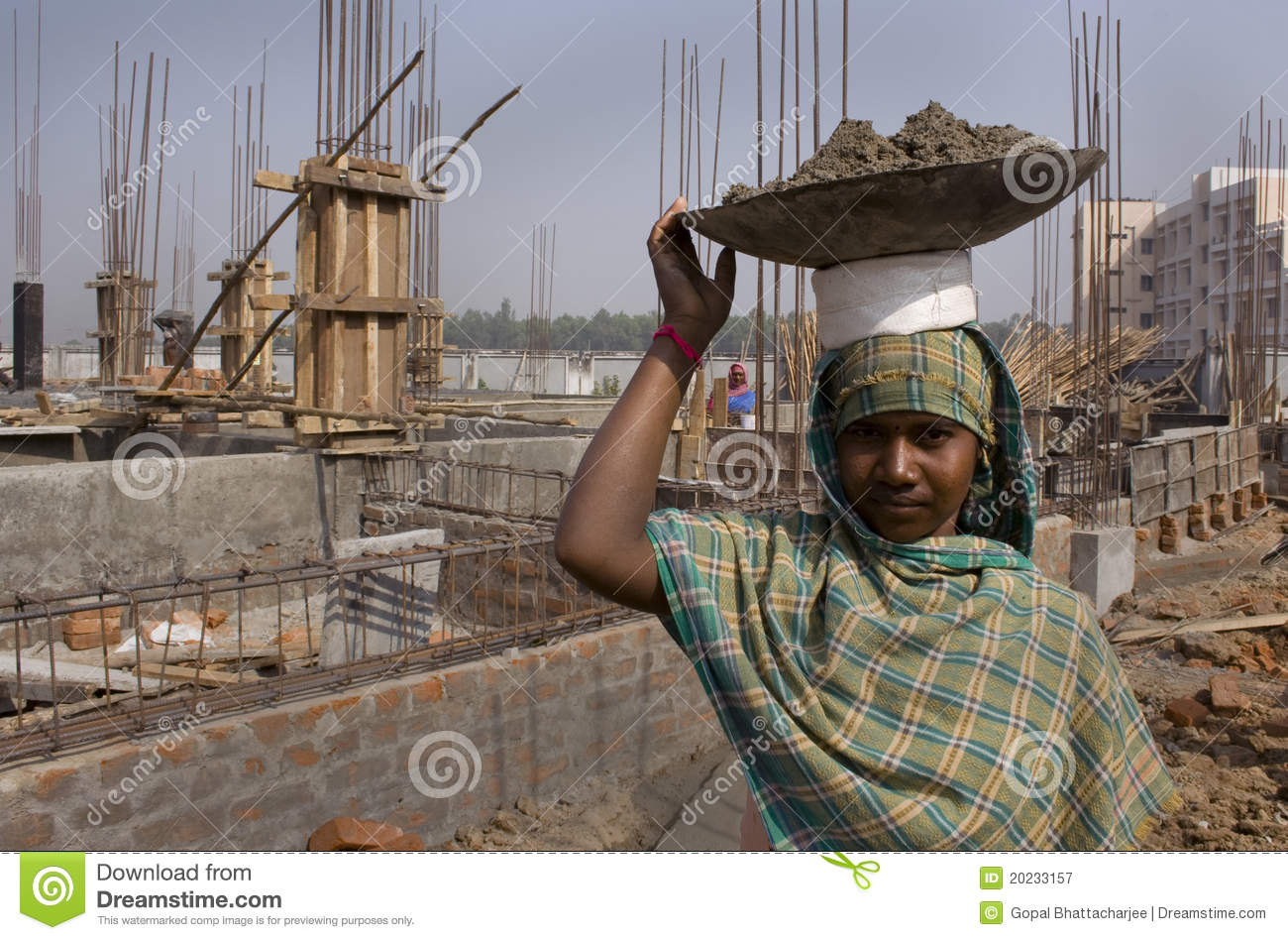 Woman construction worker editorial photography Image of cover  20233157