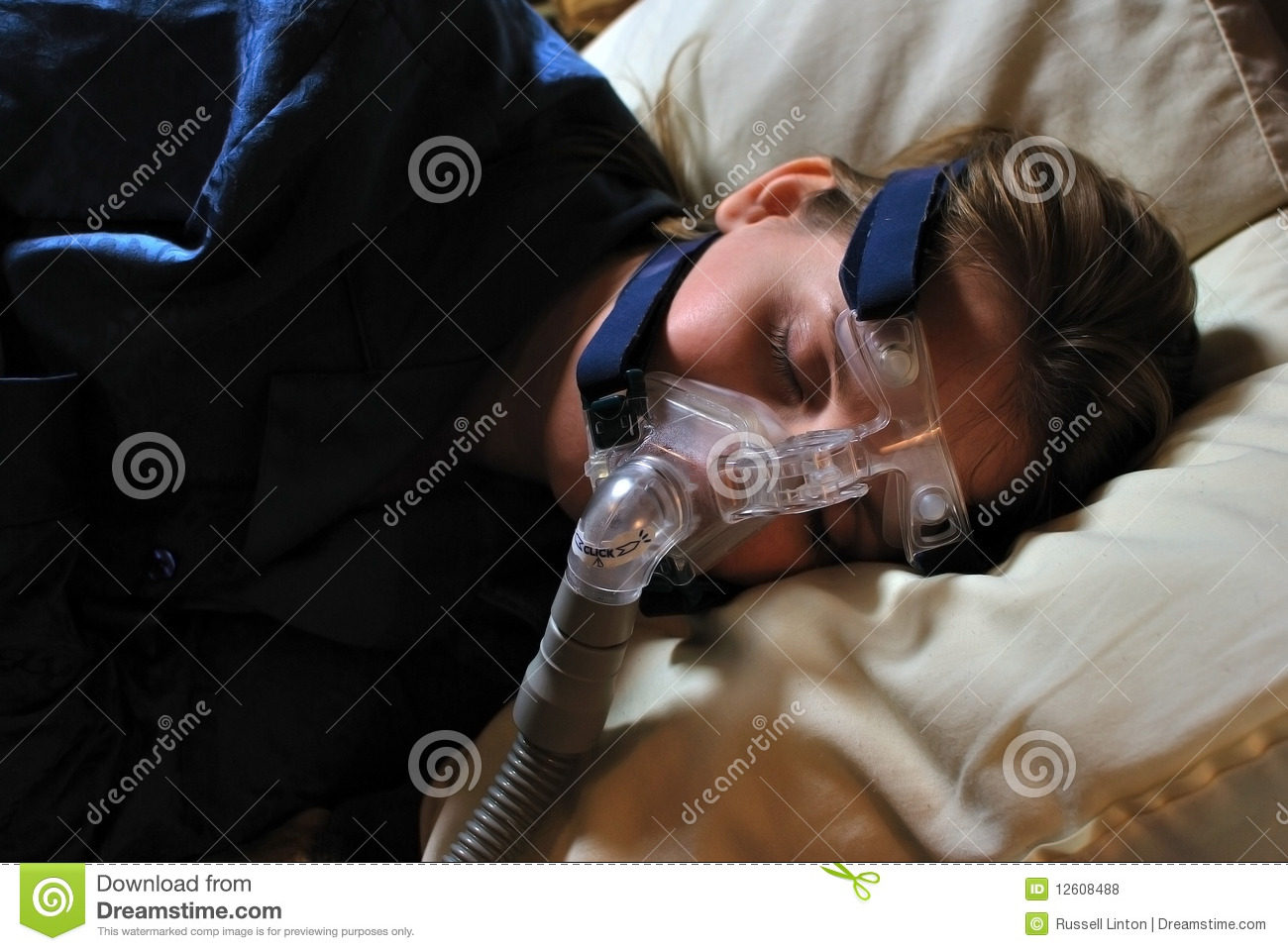 Woman With CPAP Mask Royalty Free Stock Photos  Image