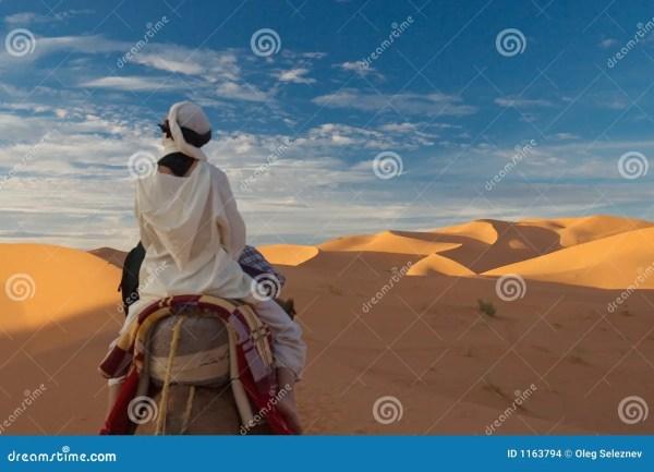 Woman In Desert Stock Of Heat Adventure