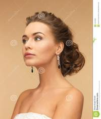 Woman With Diamond Earrings Stock Image - Image: 31870393