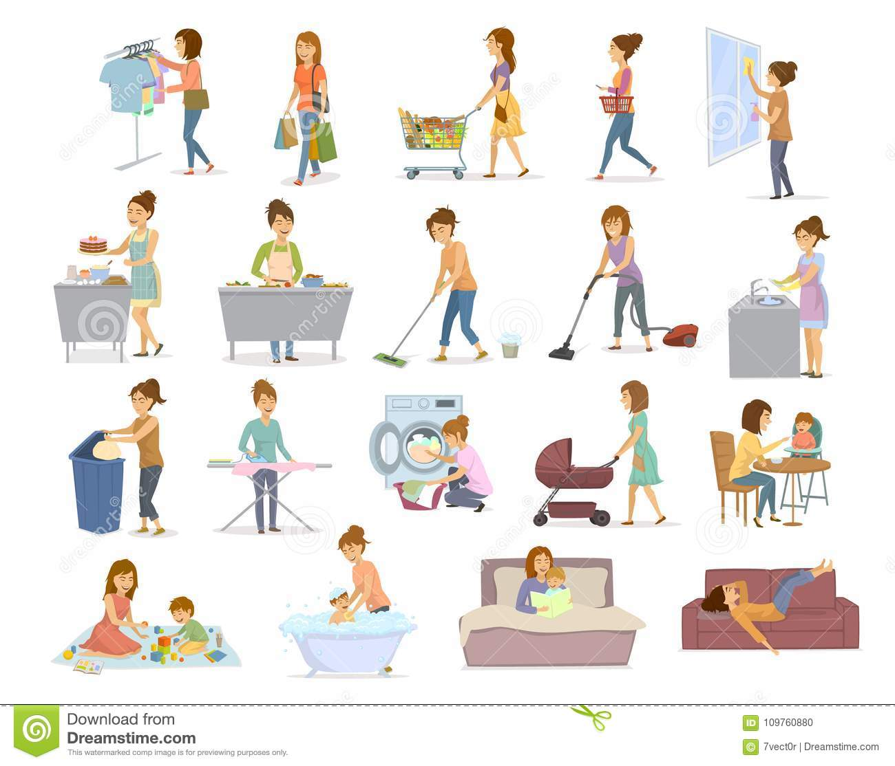 Chores Stock Illustrations 3 645 Chores Stock