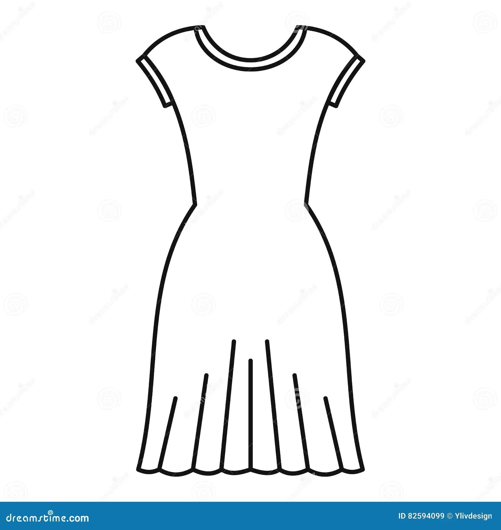 Woman Dress Sign Icon. Elegant Clothes Symbol. Cartoon