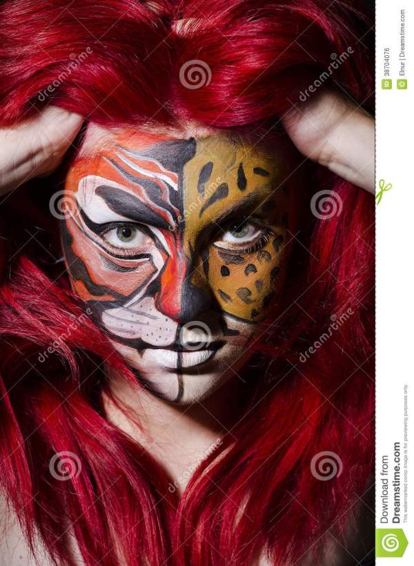 Woman Face Painting