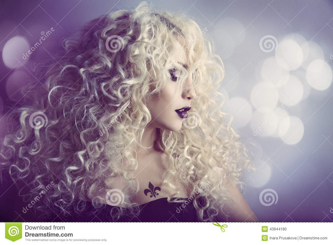 Woman Fashion Beauty Portrait Model Girl Hairstyle Blond Hair Stock Photo  Image 43944180