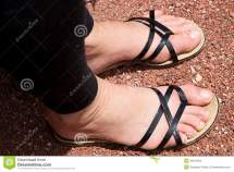 Woman Feet In Sandals Stock - 43974602