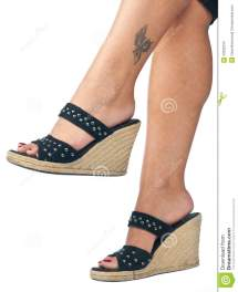 Woman Feet In Shoes Stock - 20332234