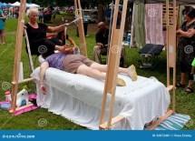 Woman Ashiatsu Barefoot Massage Summer Festival