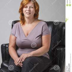 A Sofa In The Forties Leick Furniture Mission Table Medium Oak Woman Her Stock Photo - Image: 50890937