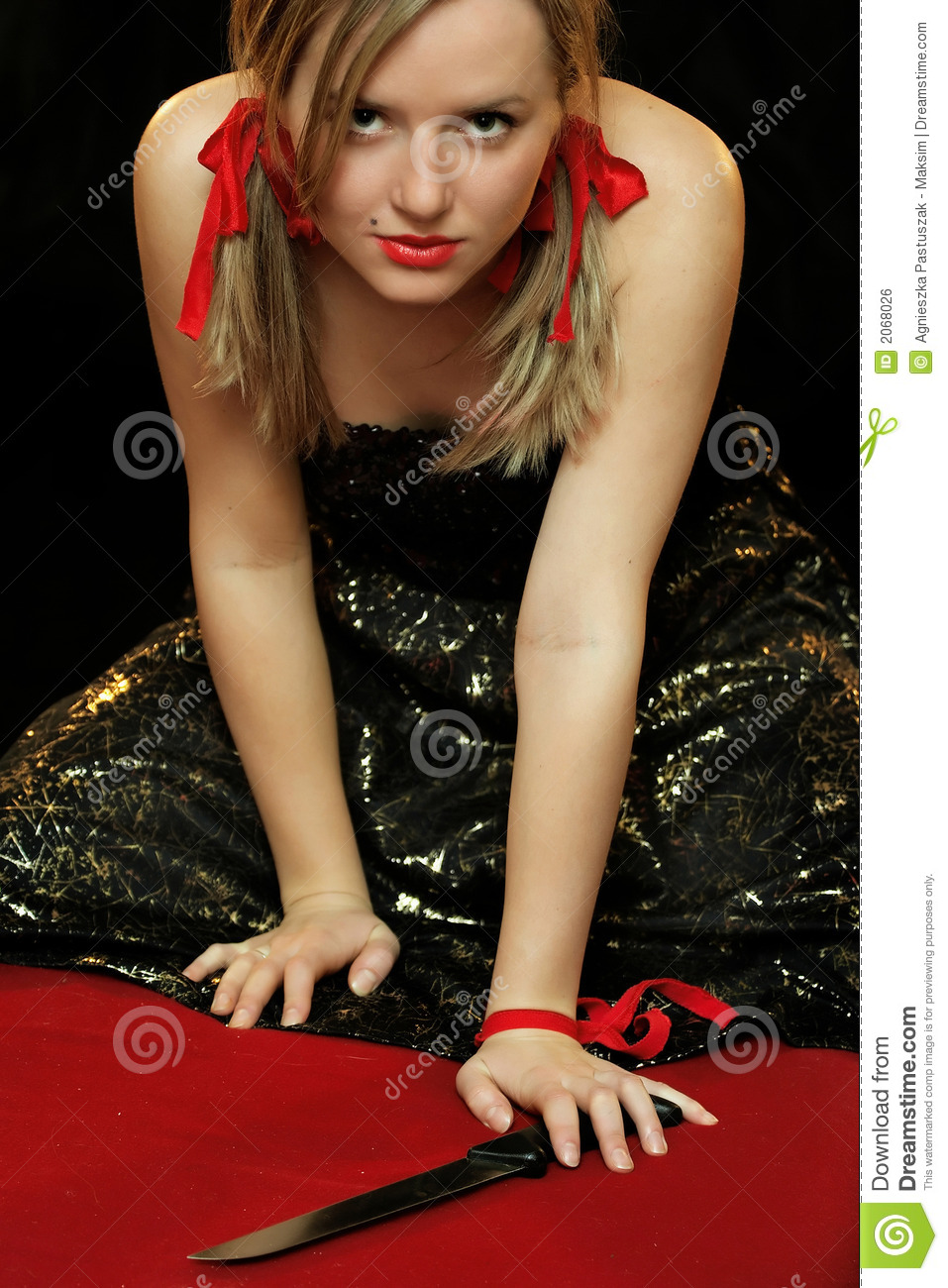 Woman With Knife Royalty Free Stock Image  Image 2068026
