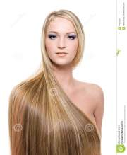woman with long straight blond