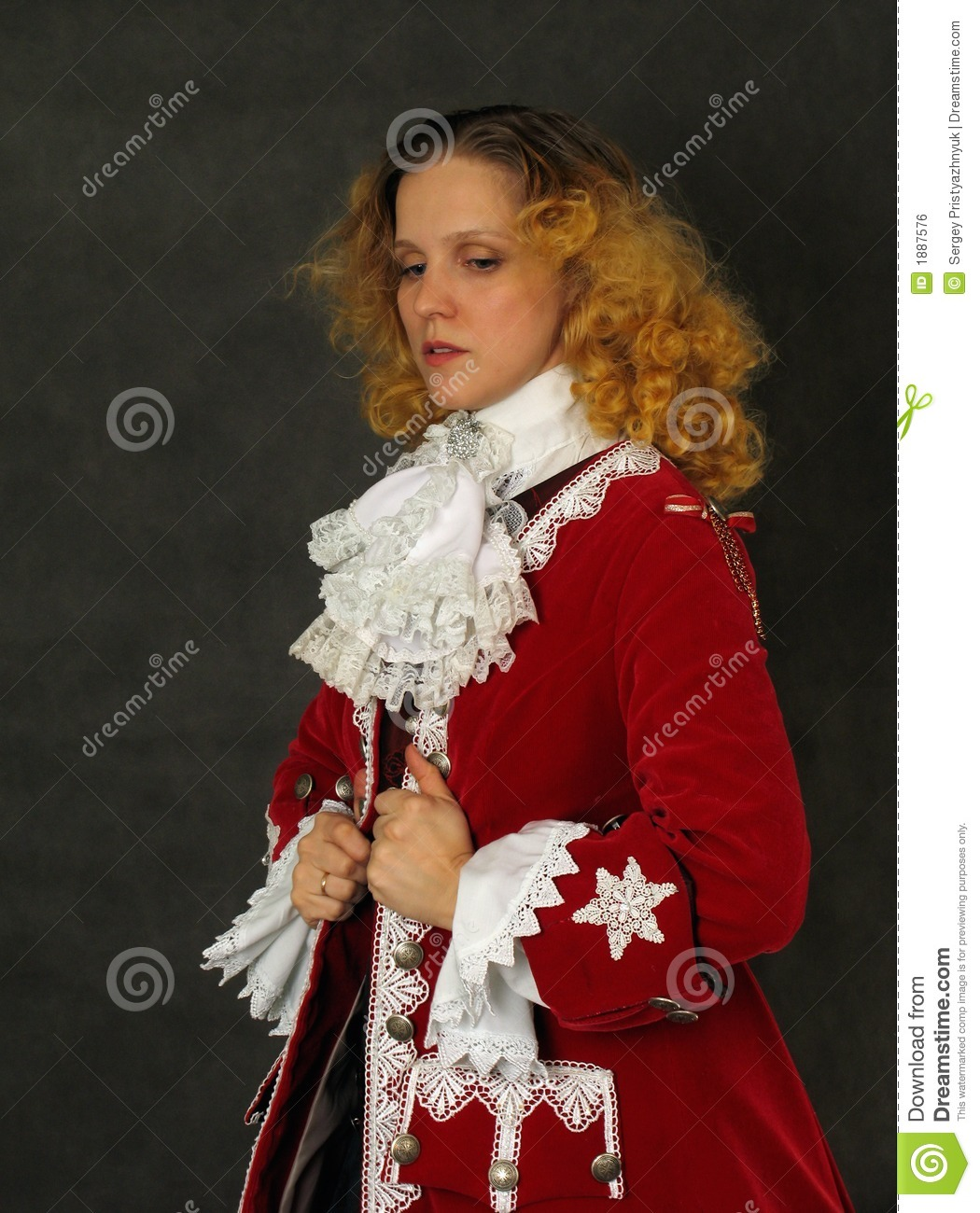Woman In Old Fashioned French Clothes Stock Photo