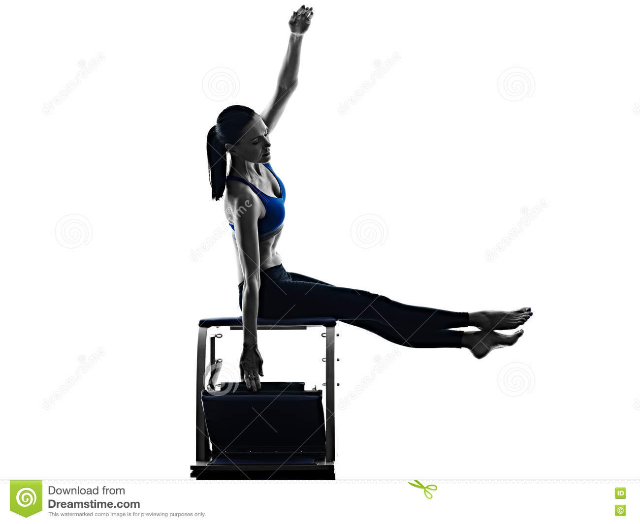 chair exercises at work walmart deck covers woman pilates fitness isolated stock photo