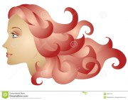 woman profile long red hair royalty
