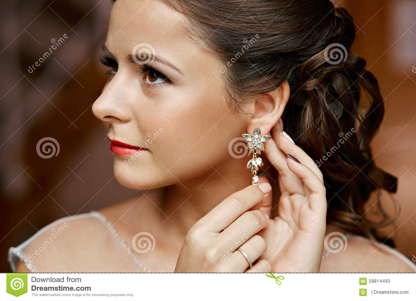 Woman With Diamond Earrings Royalty