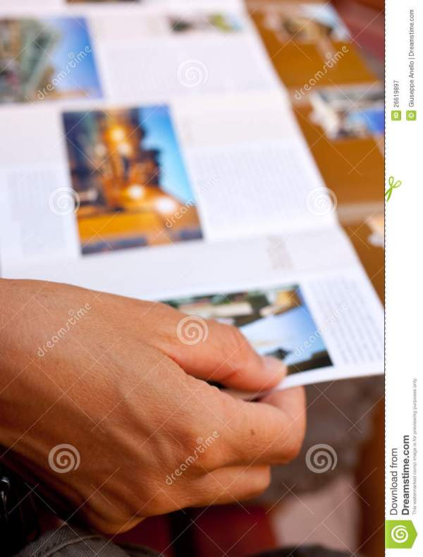 Woman Reading Brochure Royalty Free Stock