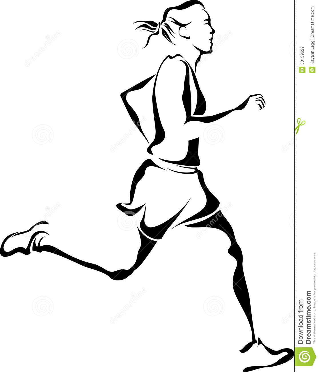 Woman Runner Stock Vector Illustration Of Competition