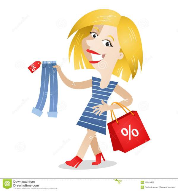 Woman Shopping Clothes Stock Vector