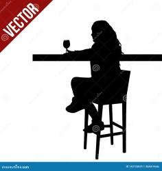 silhouette bar sitting cafe woman table pub restaurant