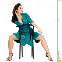 Woman Sitting In Chair Cushions For Rocking Chairs Royalty Free Stock Images Image