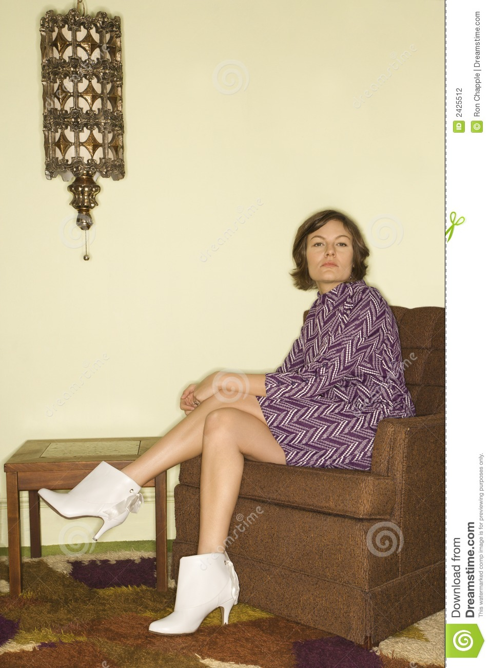 Woman Sitting In Chair Stock Photography  Image 2425512