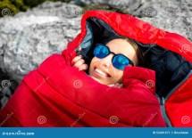 Woman Sleeping Bag Mountain Stock - 297