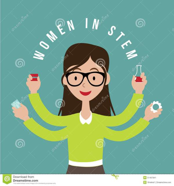 Woman With Stem Icons Flat Design Eps10 Vector Stock