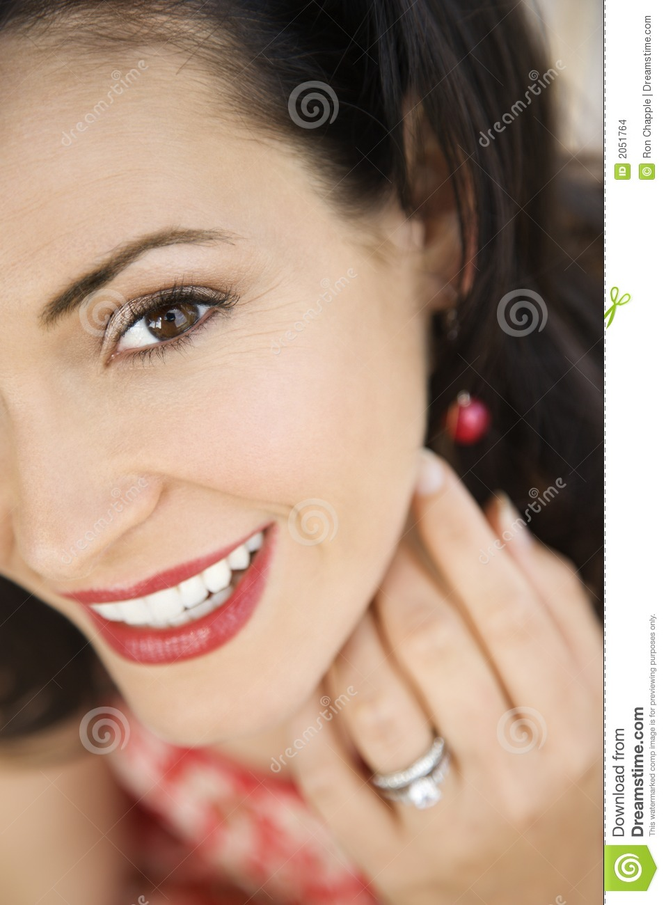 Woman Wearing Wedding Ring Stock Photo  Image of beauty face 2051764