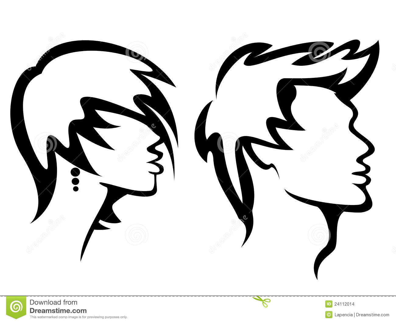 Womans And Mans Haircut Styles Stock Images Image 24112014
