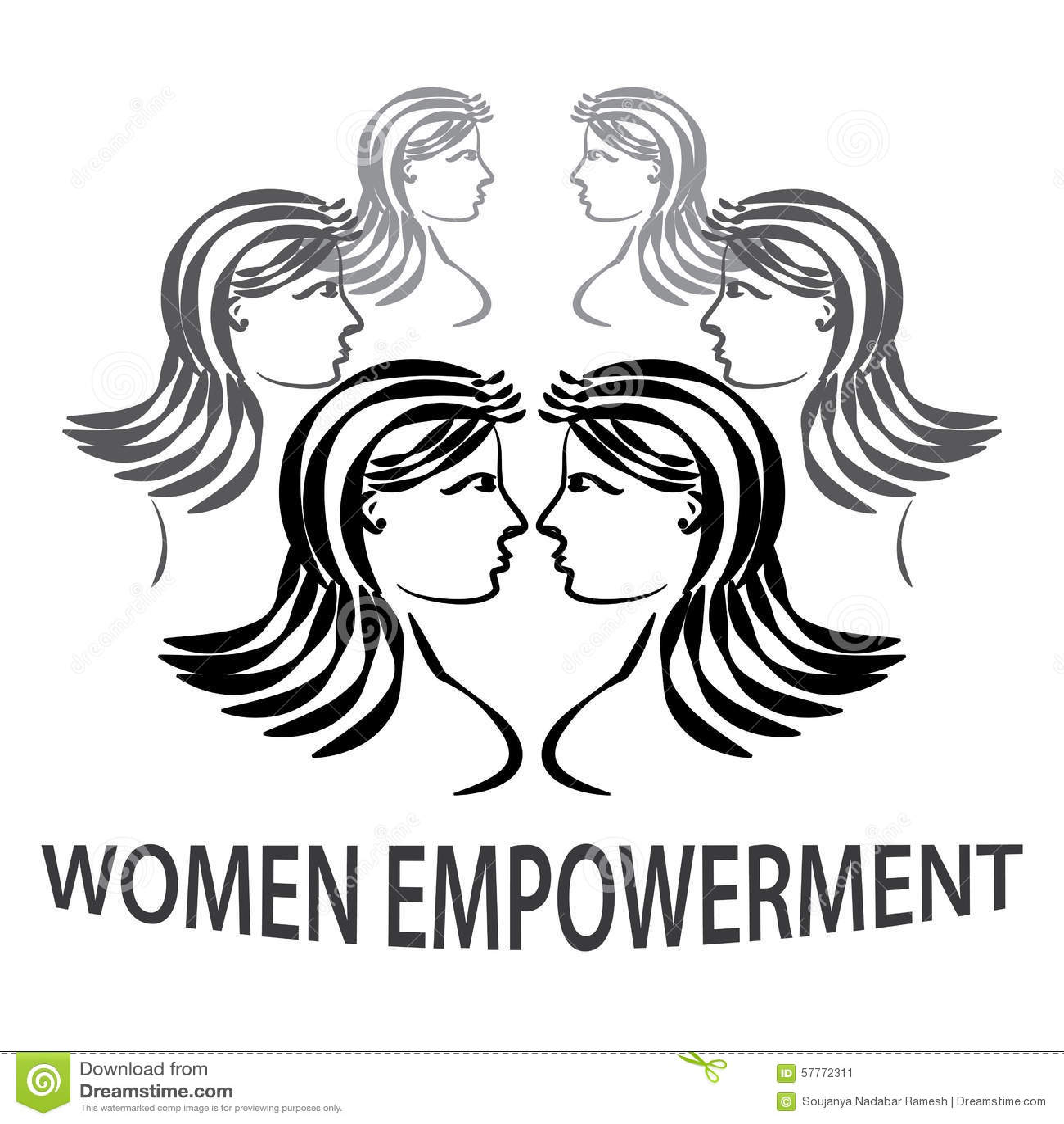 Women Empowerment Stock Vector