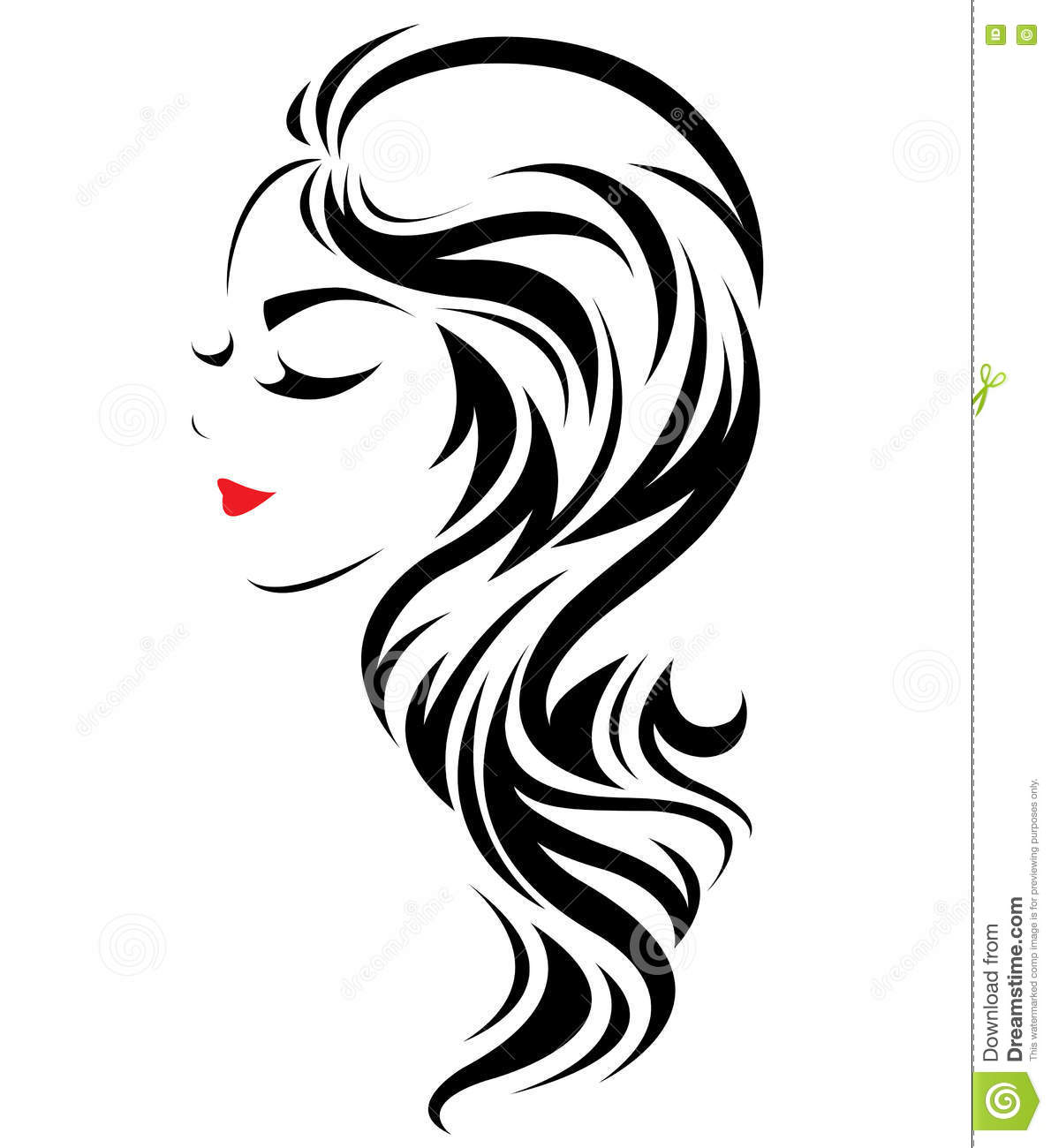 Hair Salon Logo Icon Cartoon Vector