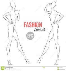 sketch outline template figure face illustration vector half wiev sketching base lady preview