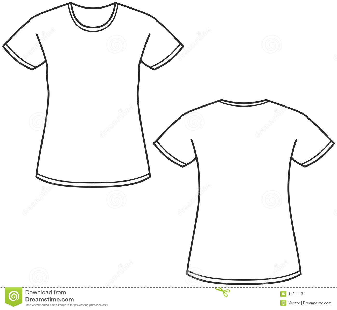 Women S T Shirt Illustration Stock Image