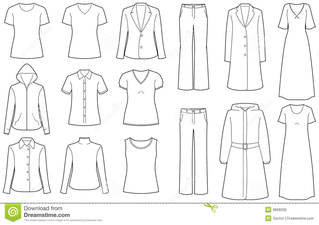 womens clothes isolated vector