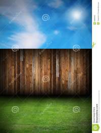Wood Boards Fence In The Backyard Stock Illustration ...