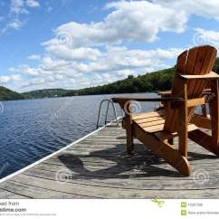 Boat Chairs Folding Deck Office Star Dorado Chair Wood On The Lake Stock Photo Image Of