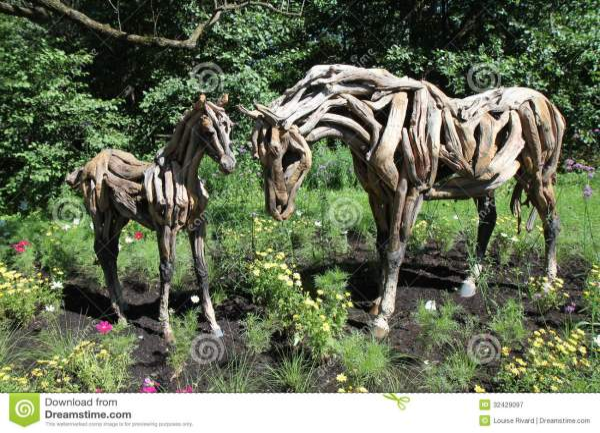 Wood Horses Editorial - 32429097