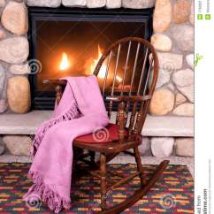 Wood Rocking Chair Styles Leather Folding Chairs Uk In Front Of Home Fireplace Royalty Free Stock Photography - Image: 17606217