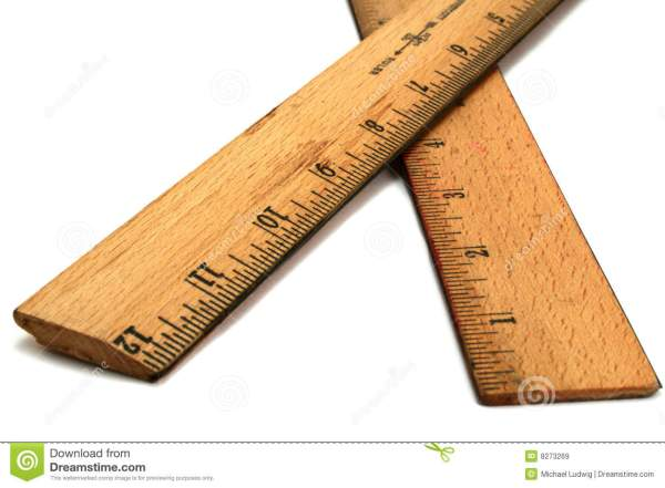 Wood Rulers Royalty Free Stock - 8273269