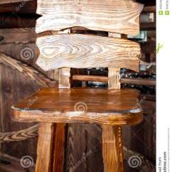 Wooden High Chair Cushion Covers Game Store Bar In Country Style Stock Photo - Image: 34531904