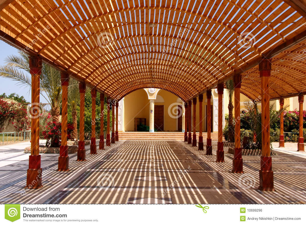 Wooden Canopy From The Sun Stock Photo Image Of Pavilion