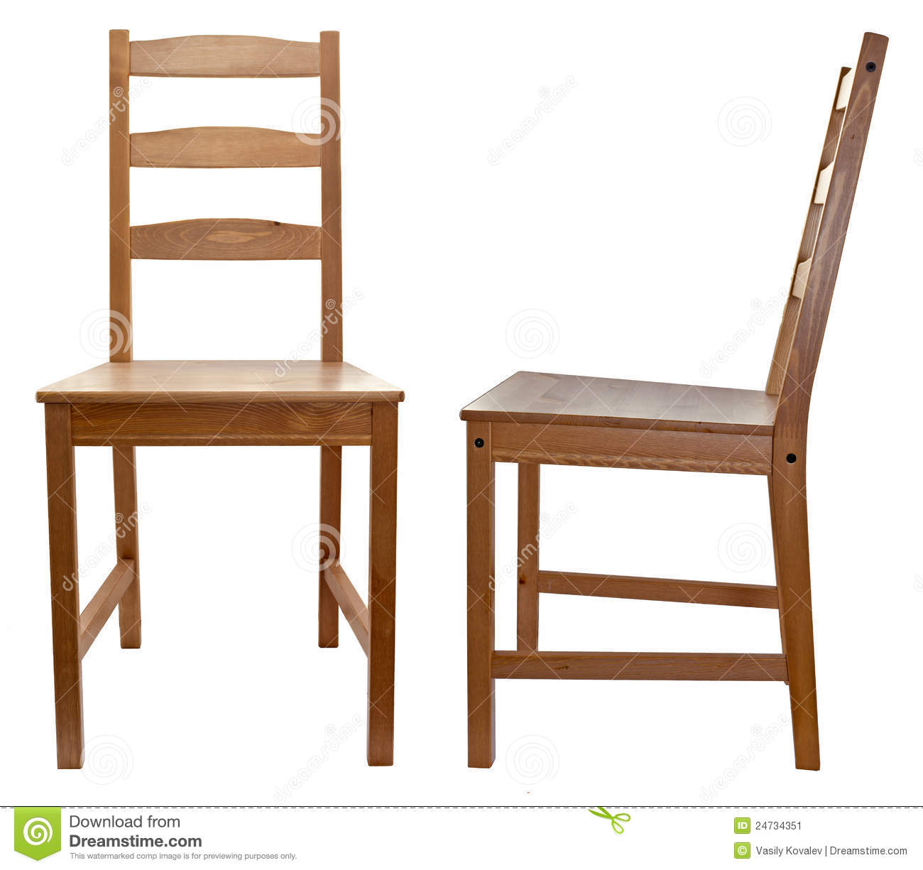 White Wood Chair White Wooden Chair Stock Photography Cartoondealer