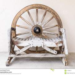Wagon Wheel Chair Graco Duodiner High Cover Replacement Wooden For Two Stock Photo Image 51168214