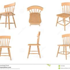 Stool Chair Dream Meaning Wood Restaurant Chairs Canada Wooden In Different Angles Stock Illustration