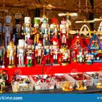 Wooden Christmas Toys And Decorations In Christmas Market At Alexanderplatz Reflex Stock Photo Image Of Decorations People 164824804
